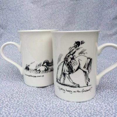 mug heavy on the forehand